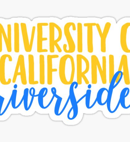 University of California - Riverside Sticker