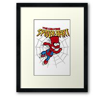 Spiderbart: Bart Simpson as Spider-man Framed Print