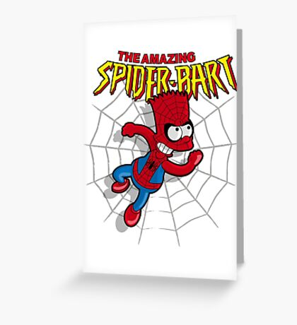Spiderbart: Bart Simpson as Spider-man Greeting Card