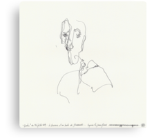 (Night) Nap Drawings 11 - Bust of Diego (after Giacometti) from memory - 24th July 2013 Canvas Print