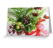 Winter Flowers Greeting Card
