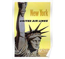 Vintage Travel Poster New York Poster