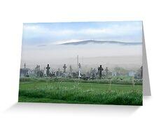 Fog rolling towards the graveyard Greeting Card