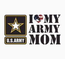 I LOVE MY ARMY MOM - 2 Kids Tee