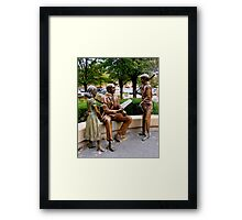 Sculpture Plaza Framed Print