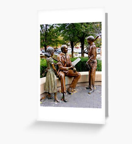 Sculpture Plaza Greeting Card