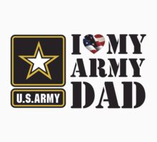 I LOVE MY ARMY DAD - 2 Kids Clothes