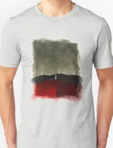 Red umbrella in the rain Unisex T-Shirt