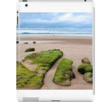 girl walking near unusual mud banks iPad Case/Skin