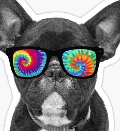 Tie Dye Dog - Cute Puppy Sticker Sticker