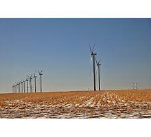 Winter Wind Turbines #5 Photographic Print