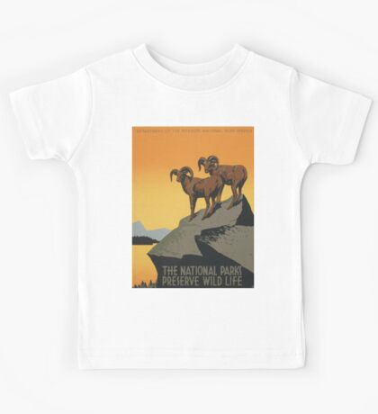 Vintage poster - National Parks Kids Tee