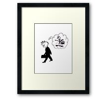 Old Calvin, Good Memories - Calvin & Hobbes Framed Print