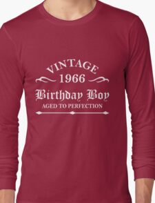 Vintage 1966 Birthday Boy Aged To Perfection Long Sleeve T-Shirt