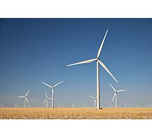 Winter Wind Turbines #8 Photographic Print