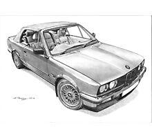 BMW E30 325i Cabriolet (1990) Photographic Print