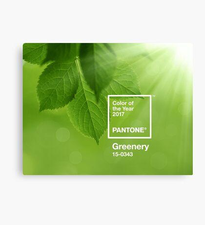 pantone greenery Canvas Print