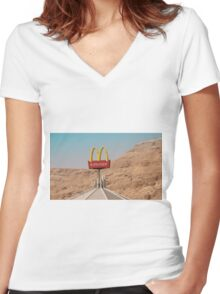 McDonalds-On-Sea Women's Fitted V-Neck T-Shirt