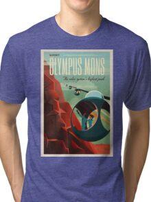 Vintage Adventure Travel Olympus Mons Tri-blend T-Shirt