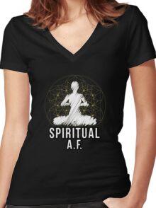 Spiritual A.F. Women's Fitted V-Neck T-Shirt