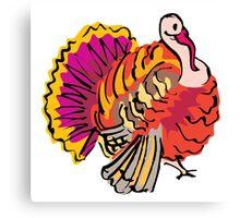 Multi colored graphic turkey Canvas Print