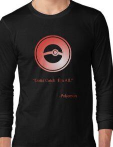 Red Pokeball Symbol Long Sleeve T-Shirt
