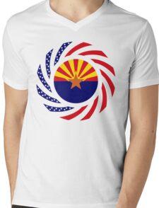 Arizonan Murican Patriot Flag Series Mens V-Neck T-Shirt