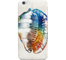 Colorful Seashell Art - Beach Trio - By Sharon Cummings iPhone Case/Skin