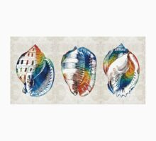 Colorful Seashell Art - Beach Trio - By Sharon Cummings Kids Clothes