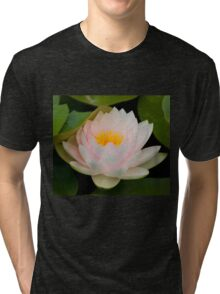 Pink Lotus with in pond. Tri-blend T-Shirt