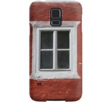 Red and White Window Samsung Galaxy Case/Skin