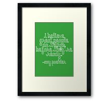 """Amy: """"Do Great Things"""" Framed Print"""