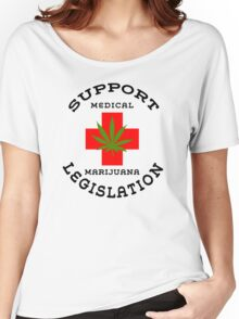 Support Medical Marijuana Legislation Women's Relaxed Fit T-Shirt