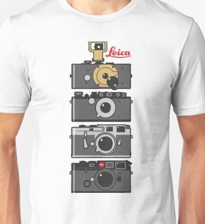 Leica camera evolution Unisex T-Shirt