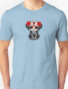 Cute Red Day of the Dead Puppy Dog Yellow Unisex T-Shirt