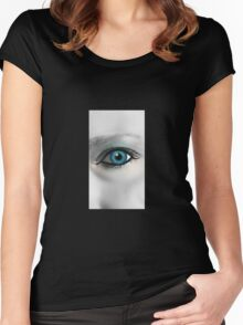 Beautiful Blue Eye Women's Fitted Scoop T-Shirt