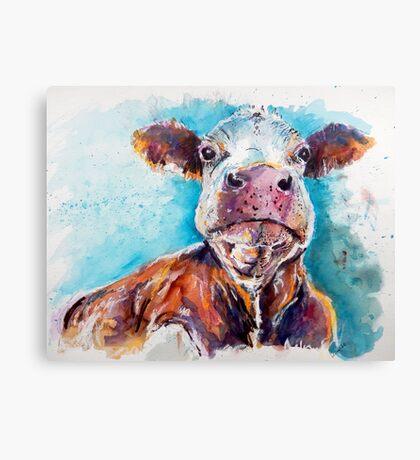 Optimistic Cow Canvas Print