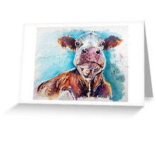 Optimistic Cow Greeting Card