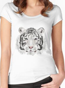The White Tiger Shirt Women's Fitted Scoop T-Shirt