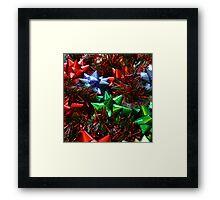 Christmas Bows Framed Print