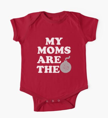 My moms are the bomb funny baby shirt One Piece - Short Sleeve
