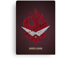 Gurren Lagann typography Canvas Print