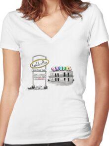 Golden Rim Motor Inn - The Luxury Women's Fitted V-Neck T-Shirt
