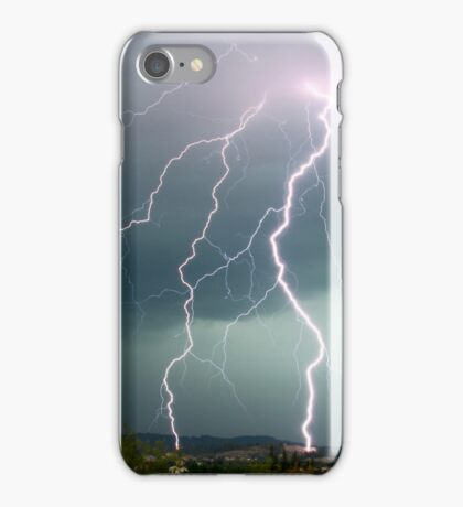 Tripple fork lightening iPhone Case/Skin