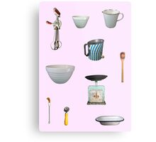 Love to Bake! - light lilac background Metal Print