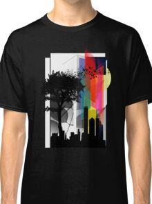 Abstract Colored Geometric City Lights Classic T-Shirt