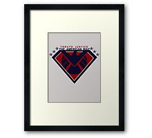 THRUTH JUSTICE THE AMERICAN WAY Framed Print