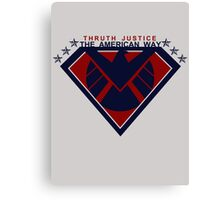 THRUTH JUSTICE THE AMERICAN WAY Canvas Print