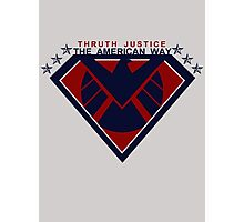 THRUTH JUSTICE THE AMERICAN WAY Photographic Print