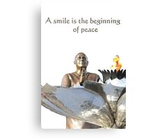 ..... the beginning of peace Canvas Print